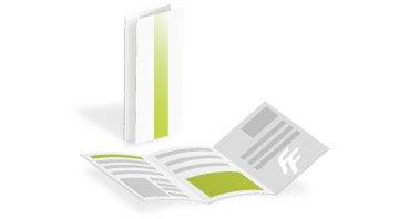 folder und falzflyer g nstig drucken bei flyerfabrik. Black Bedroom Furniture Sets. Home Design Ideas